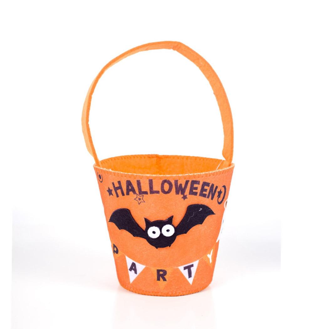 Spooky Pumpkin and Bats Halloween Trick or Treat Tote Bag