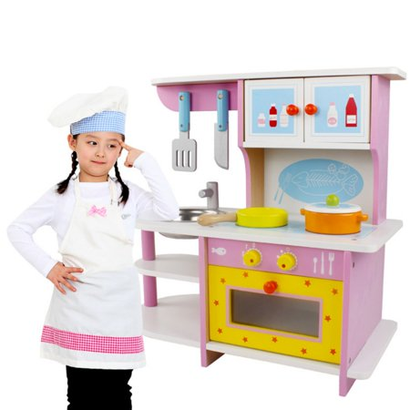 Moaere Kids Kitchen Playset Wooden Cookware Pretend Cooking Food Set  Toddler Gift Toy Deal of the day