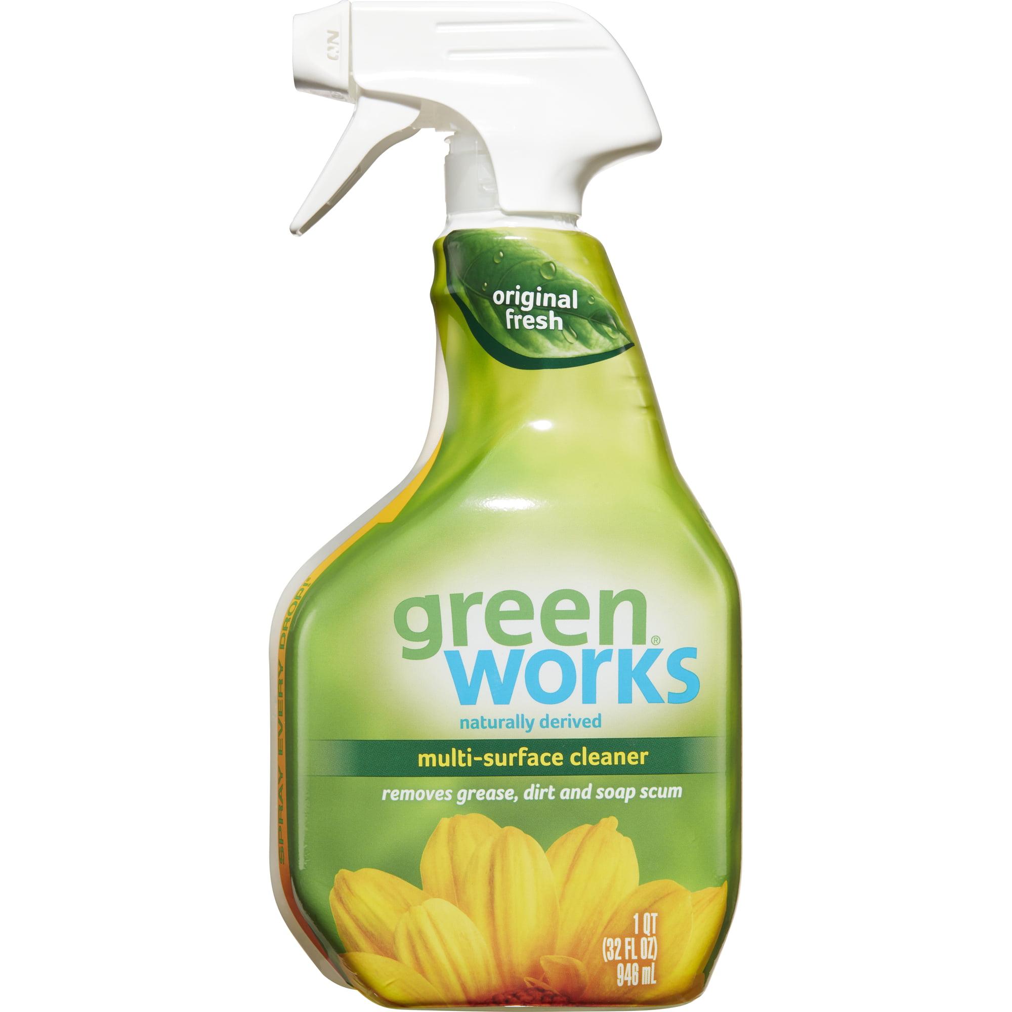 Green Works Multi-Surface Cleaner, Spray Bottle, Original Fresh, 32 oz