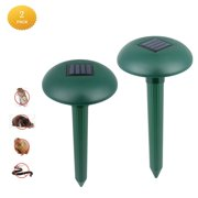 ENJOY 2PCS Outdoor Waterproof Solar Power Ultrasonic Animal Pest Mouse Repeller PIR Sensor Garden Cat Dog Repellent