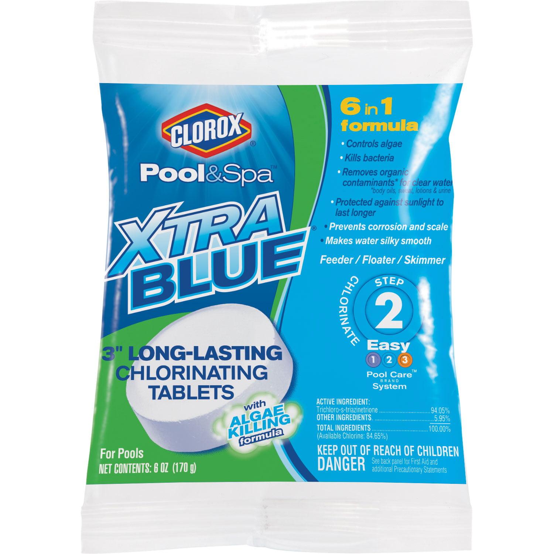 "Clorox Pool&Spa XtraBlue® 3"" Long Lasting Chlorinating Tablets, 6oz"