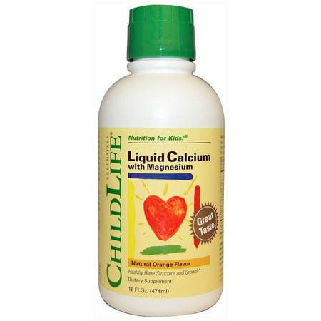 CHILD LIFE ESSENTIALS calcium liquide magnésium Orange, 16 OZ