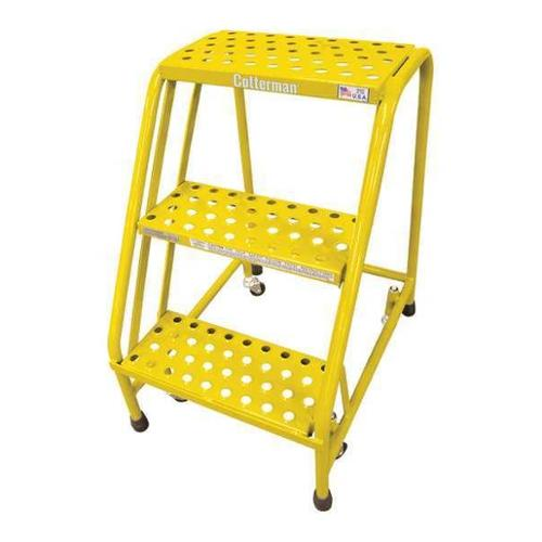 COTTERMAN 1003N1820A6E10B3C2P1 Rolling Ladder,Steel,30In. H.,Yellow G0995270