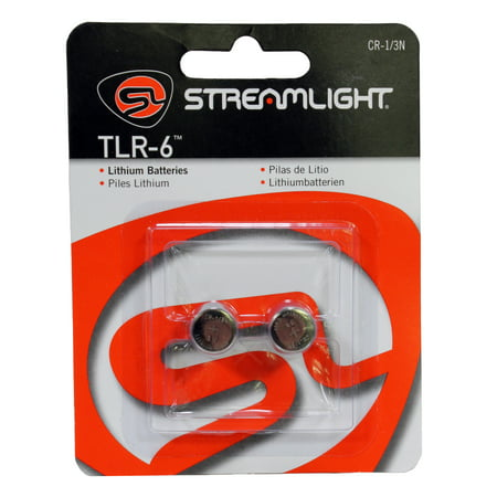 Streamlight CR 1/3N Lithium Batteries, TLR-6, Per - Streamlight Lithium Batteries