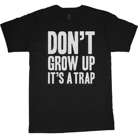 Mens Graphic Tees Don't Grow Up Funny T-shirt Decked-Out-Duds Mens Clothing