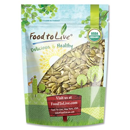 Food To Live ® Organic Pepitas / Pumpkin Seeds (Raw, No Shell) (1 Pound)