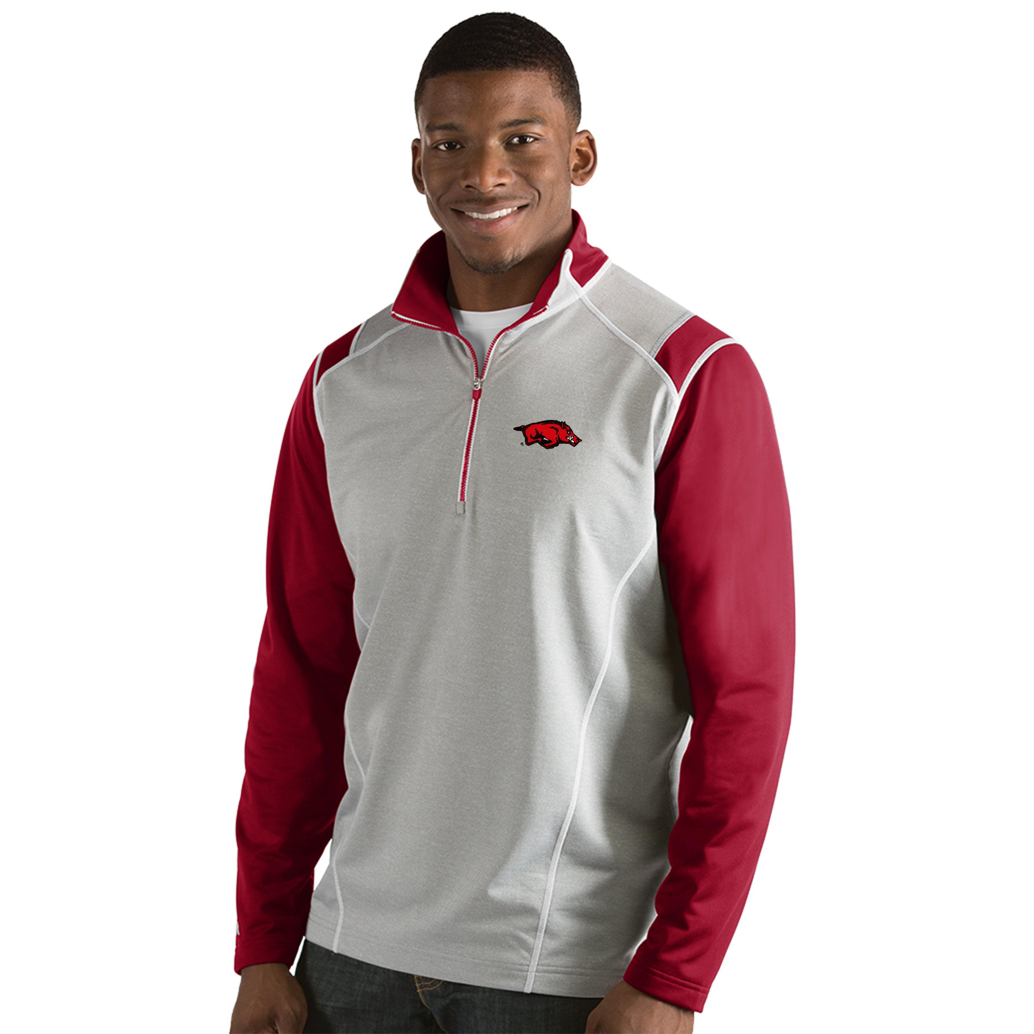 University of Arkansas Men's Automatic Half Zip Pullover