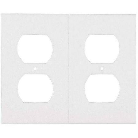 Sealer Outlet Plate Foam White 87916