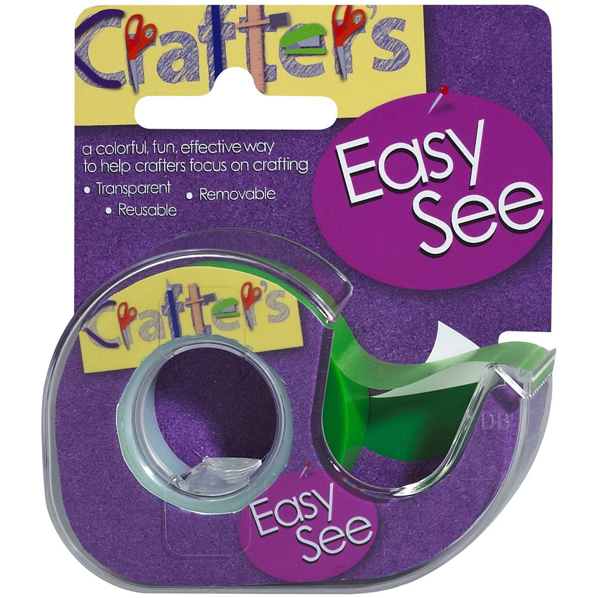 "Lee Products Crafter's Easy See Removable Tape .5""X720""-Green"