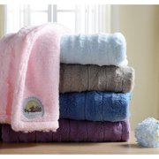 Cozy Nights Super Soft Faux Fur Sherpa Blue/ White