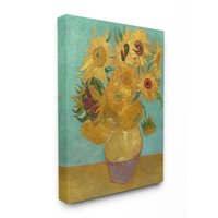 The Stupell Home Decor Collection Van Gogh Sunflowers Post Impressionist Painting Canvas Wall Art