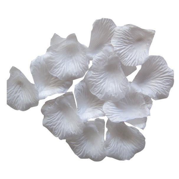 Mosunx 2000pcs White Silk Rose Artificial Petals Wedding Party Flower Favors Decor