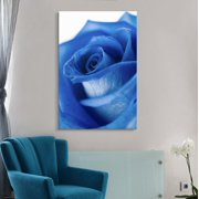 wall26 Canvas Wall Art - Closeup of a Blue Rose - Giclee Print Gallery Wrap Modern Home Decor Ready to Hang - 16x24 inches