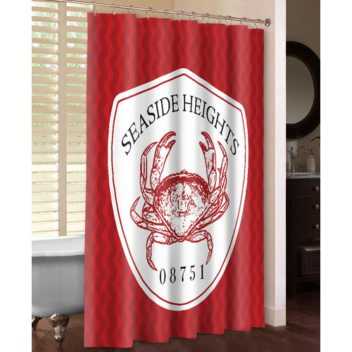 Laural Home Seaside Heights Single Shower Curtain