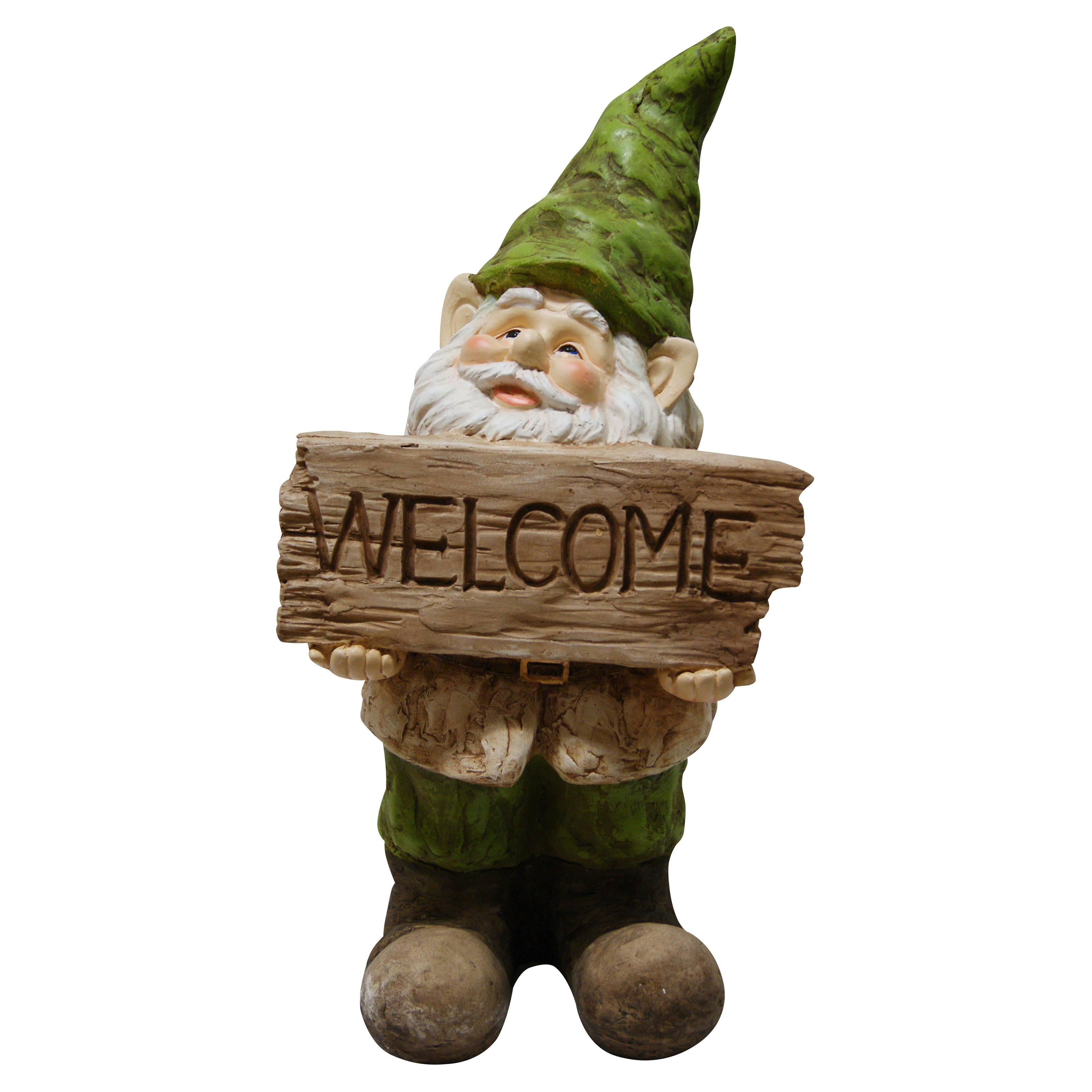 Gnome Lying On Log Statuary - Walmart.com