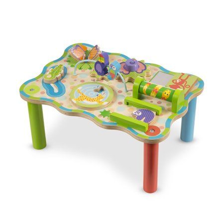 Little Colorado Play Table - Melissa & Doug First Play Children's Jungle Wooden Activity Table for Toddlers