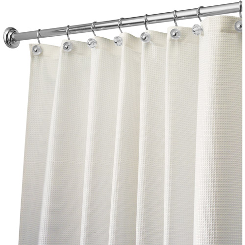 InterDesign Carlton Fabric Shower Curtain, Various Sizes by Generic