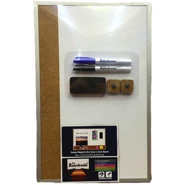 YDB 11 x 17 in. Dry Erase Cork Board with Accessories, Case of 10