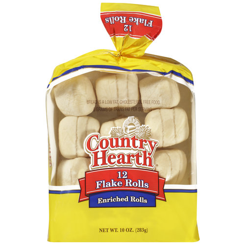 Country Hearth Enriched Flake Rolls, 12 ct, 10oz