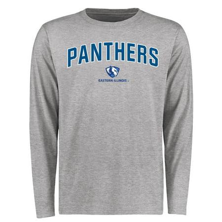 Eastern Illinois Panthers Proud Mascot Long Sleeve T-Shirt - Ash (Panther Mascot)