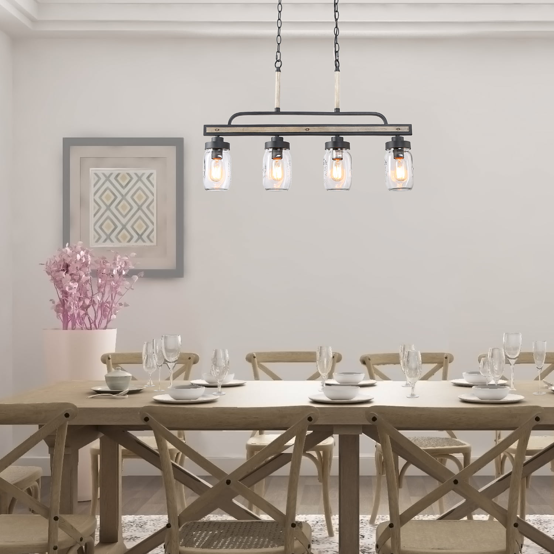 lnc 4-light farmhouse chandelier for kitchen, dining room