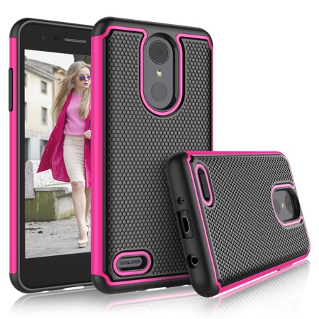 buy online 0ea40 f1d2f LG Aristo 2 Plus Cases, LG Aristo 2 Plus Cute Cover, Tekcoo [Tmajor] Shock  Absorbing [Hot Pink] Rubber Silicone & Plastic Scratch Resistant Bumper ...