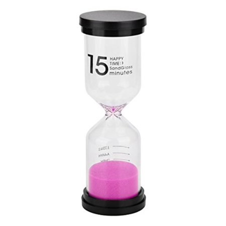 Sand Timer Colorful Sandglass Sand Clock Timer 15 minutes Tool for Kids and  Home, 5 11x1 73inches
