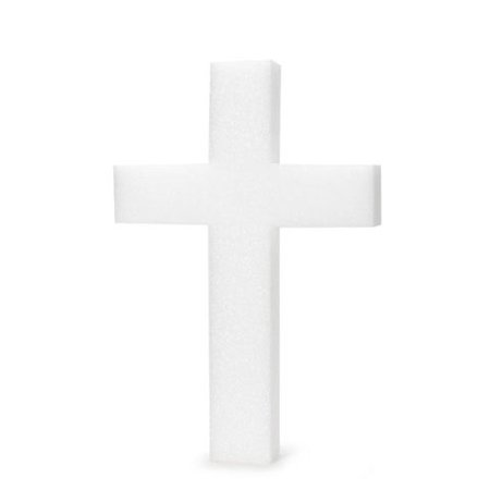 Styrofoam Cross: White, 18 inches - Styrofoam Stars