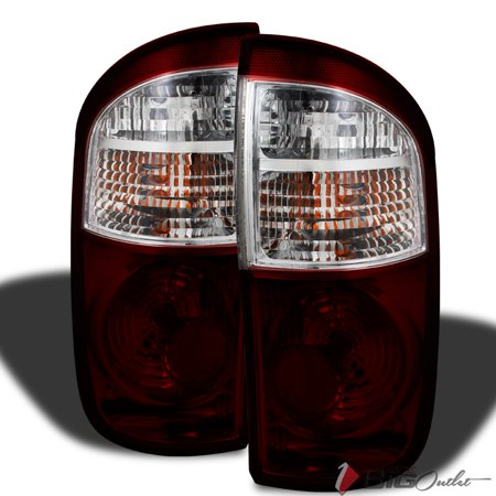 2004-2006 Tundra Double Cab Replacement Smoked Red (Smoke Tinted) Tail Lights Pair L+R 2005