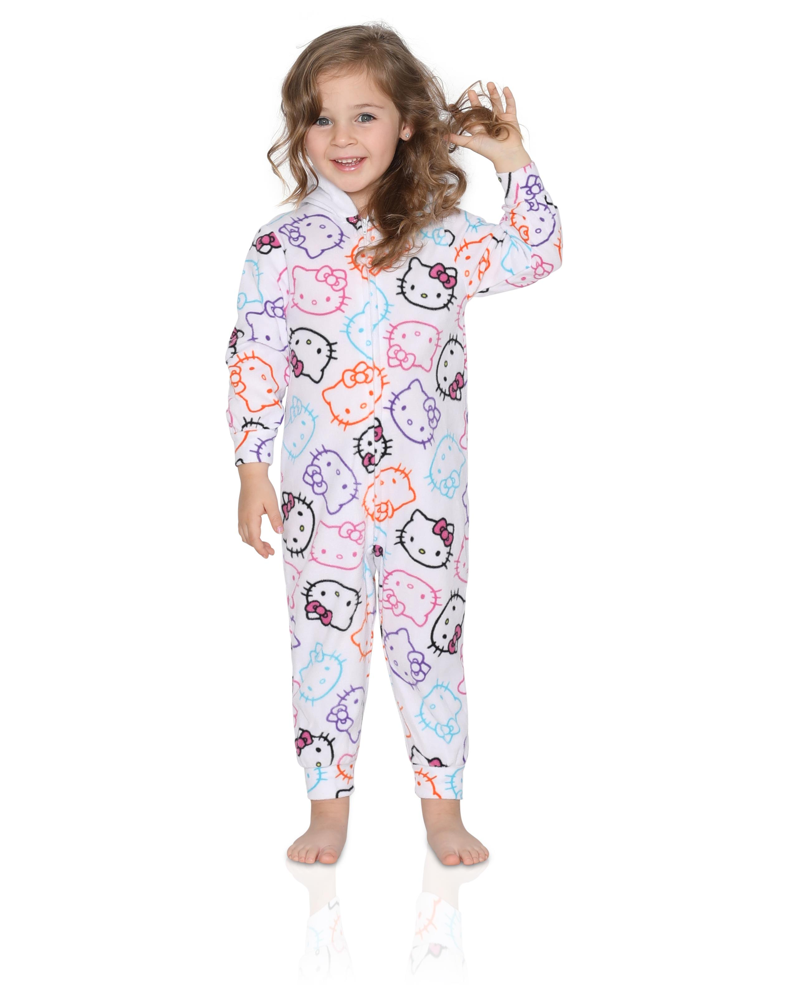 929747a4e Hello Kitty Little Girls Onesie Footed Pajama