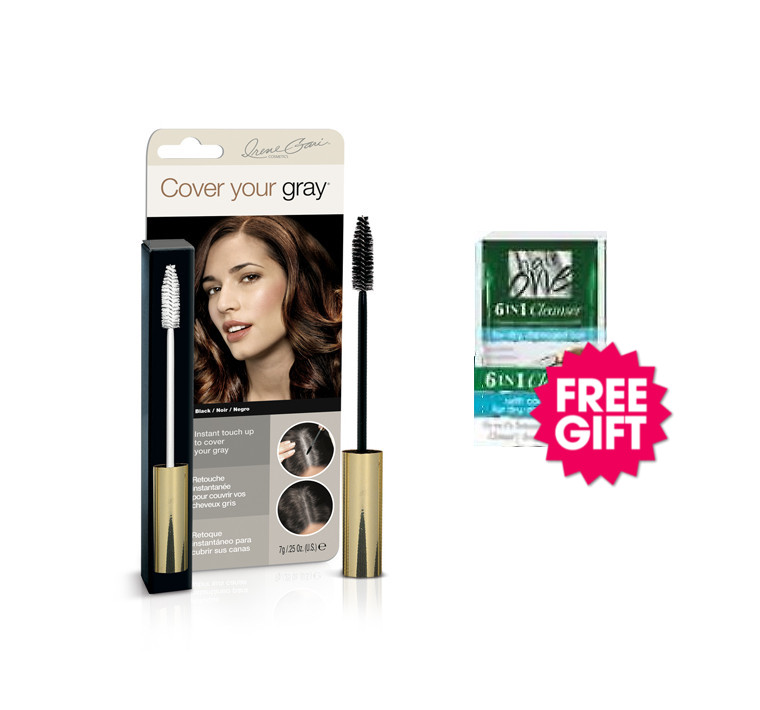 Cover Your Gray Brush In Wand - Black with BONUS Coconut Hair Cleanser Packette