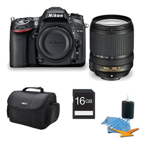 Nikon D7100 DX-format Black Digital SLR Camera and 18-140mm VR Lens 16GB Bundle