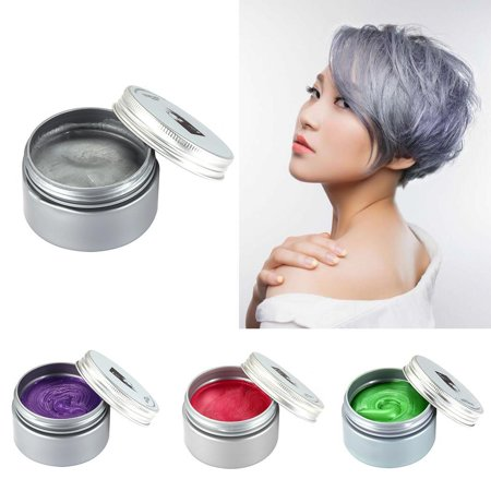 8 Colors No Harmful Temporary Hair Wax Dye ,Easy Washable Instant Hairstyle Dyeing Mud Cream Hair Pomades for Party, Cosplay, Nightclub, Masquerade, Suits All Hair Types - Masquerade Suits
