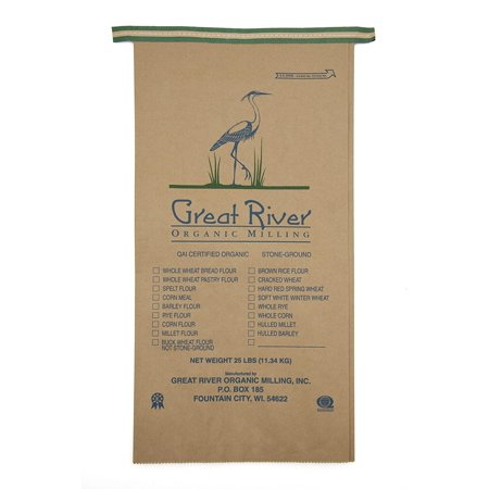 Great River Organic Milling Organic Specialty Spelt Flour, 25-pounds (Pack of1) -  Great River Milling