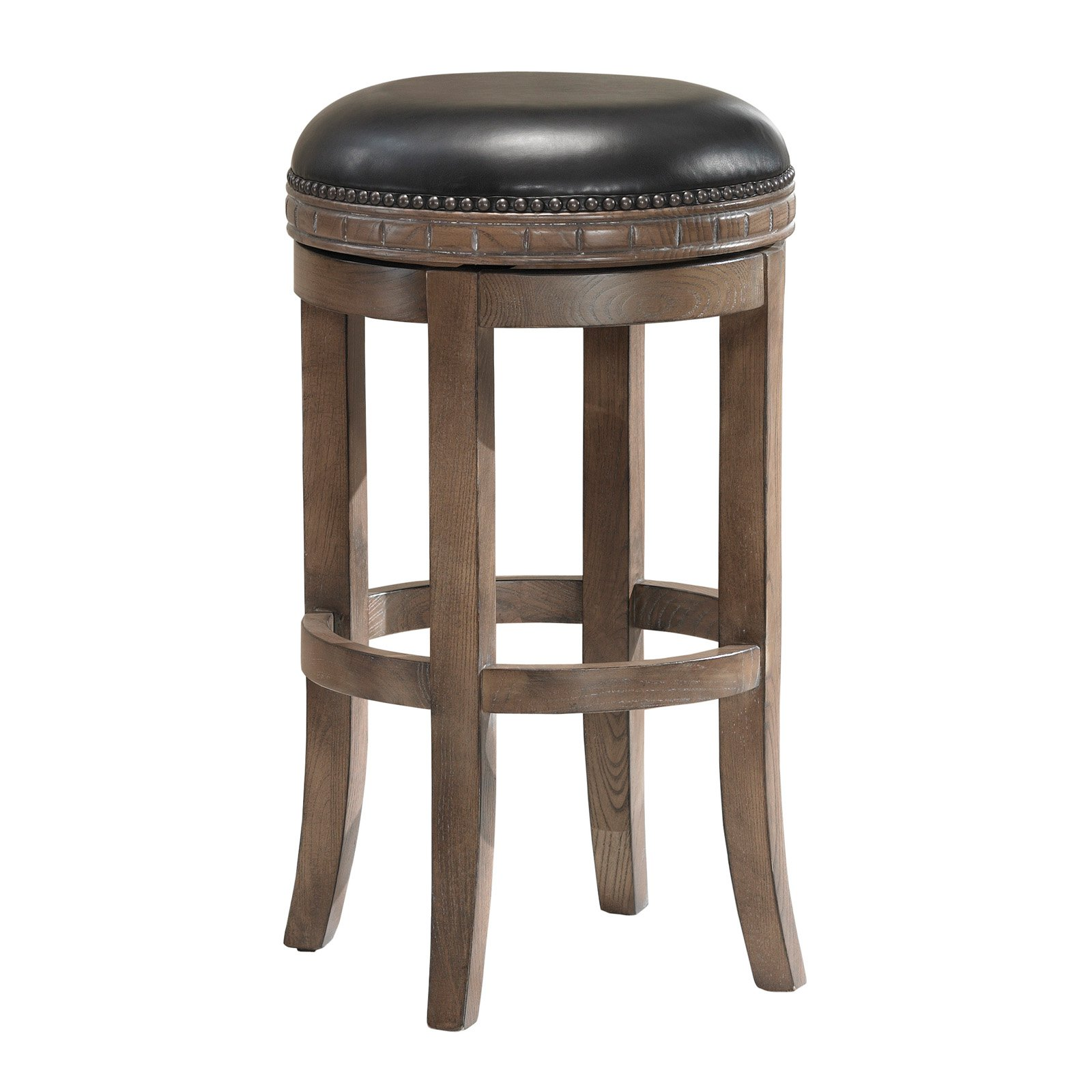 AHB Sonoma Backless Bar Stool Weathered Oak Walmart