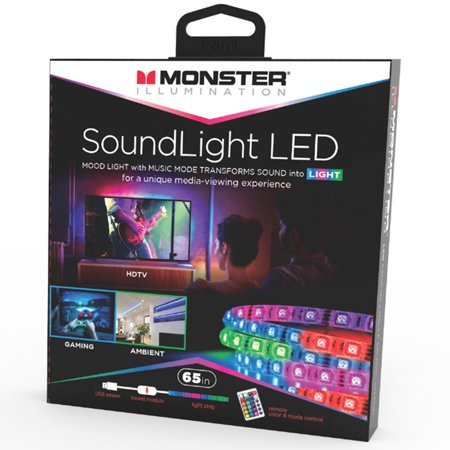 Monster Illumination Sound-Activated LED Mood Light Strip (65 In.)](Led Lights For Clothes)