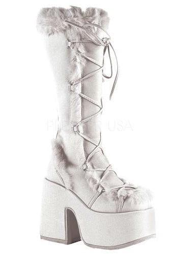 CAM311/W/PU Demonia Platform Sandals & Shoes Womens WHITE Size: 12