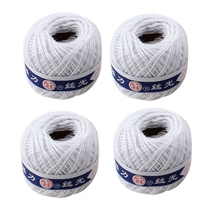 Crochet Spring (Unique Bargains Travel White Crochet Crocheting Thread Balls Sewing Strings 4 Pcs)
