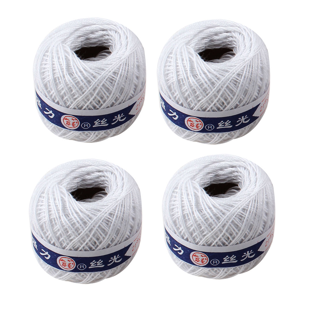 Unique Bargains Travel White Crochet Crocheting Thread Balls Sewing Strings 4 Pcs