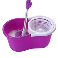 Ktaxon Adjustable 360° Spin Mop w/ Bucket System and 2 Microfiber Mop Heads