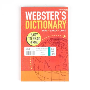 Dictionary Websters 192 Pages English In Floor Display  Case Pack Of 96