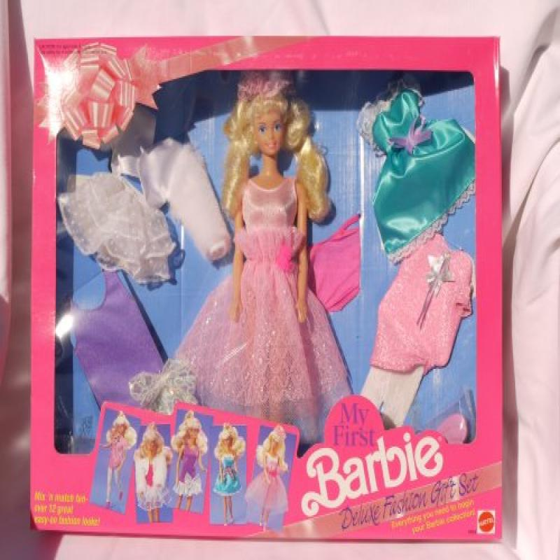 Mattel My First Barbie Deluxe Fashion Gift Set #2483 (1991)