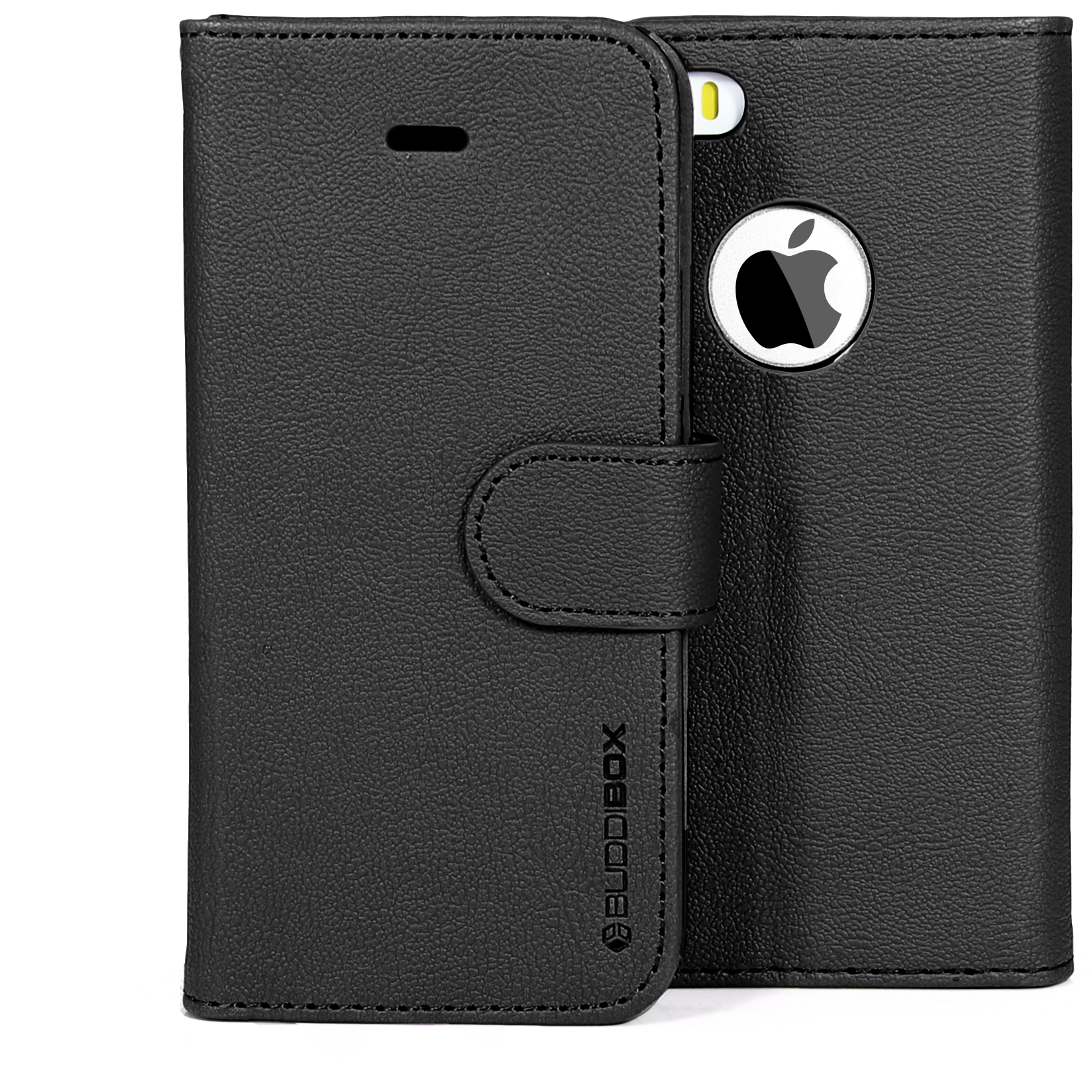 BUDDIBOX Premium Leather Wallet Case for Apple iPhone 5s / 5