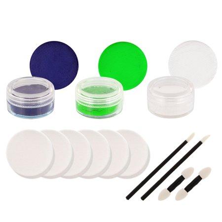 SEAHAWKS Football FACE PAINTING SET Makeup Paint Kit (Face Paint Makeup For Halloween)