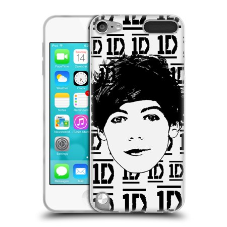 Purple Louis Vuitton (OFFICIAL ONE DIRECTION GRAPHIC FACE LOUIS SOFT GEL CASE FOR APPLE IPOD TOUCH)