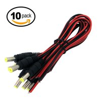 eSecure DC Power Pigtail Flying Leads for CCTV Security Camera, 10pc pack?