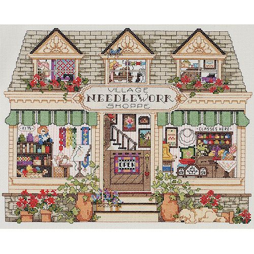 """Needlework Shoppe Counted Cross Stitch Kit-14""""X11"""" 14 Count"""