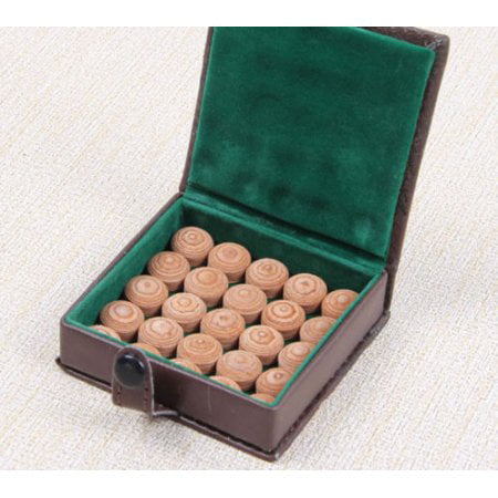 Leather Cue Tip (Lot of 10 Pool Billiard 12-Layers Soft or Medium leather Pool Cue Tips 13 MM)