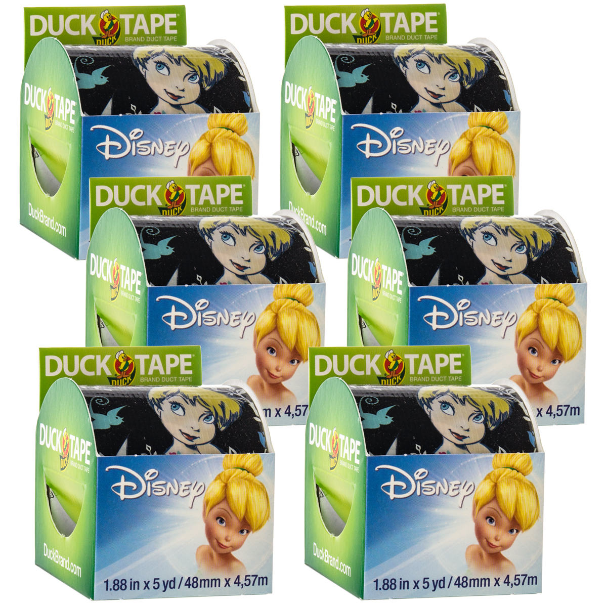 Duck Brand 6 Rolls Tinker Bell Disney Fairy Duct Tape Printed Art & Crafts 30yds