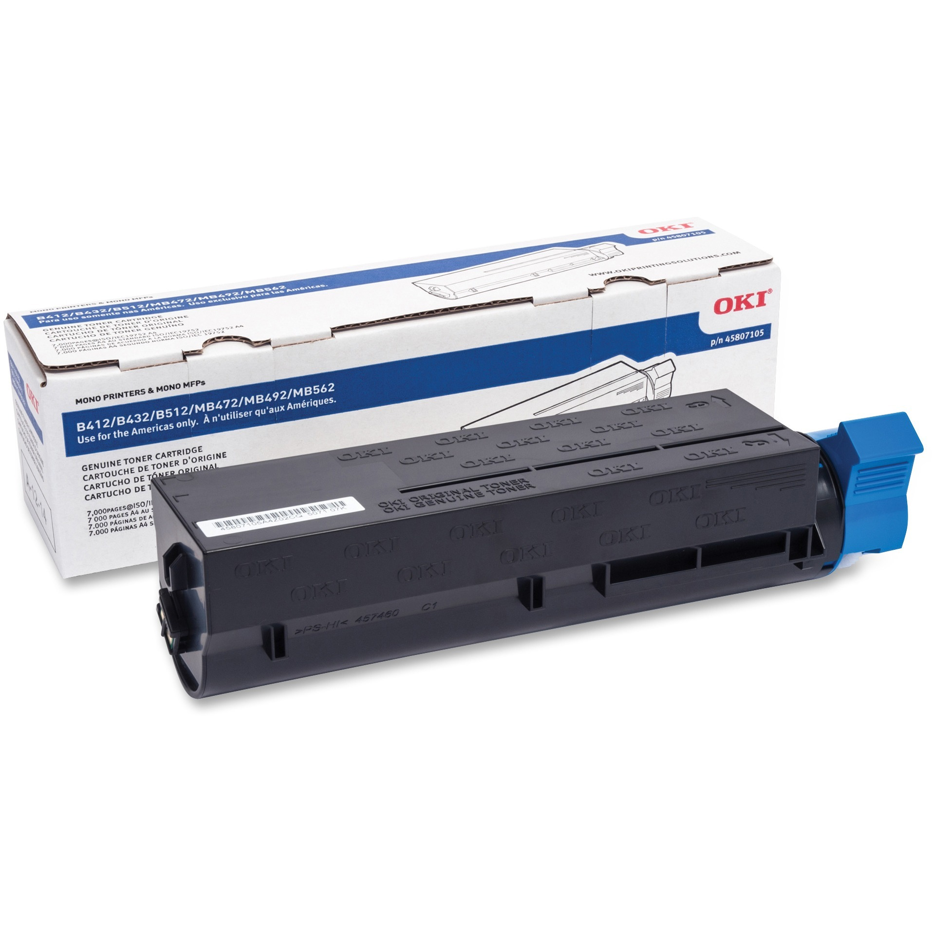 Oki Original Toner Cartridge, 1 Each (Quantity)